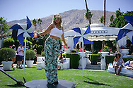 Print Pants and Cropped Top at the Pop Sugar Party, Coachella 2016