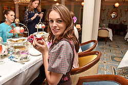 Lady Violet Manners at an afternoon tea in honour of Megan Hess hosted by Lady Violet Manners at The Lanesborough, Hyde Park Corner, London, England. 10 November 2017.