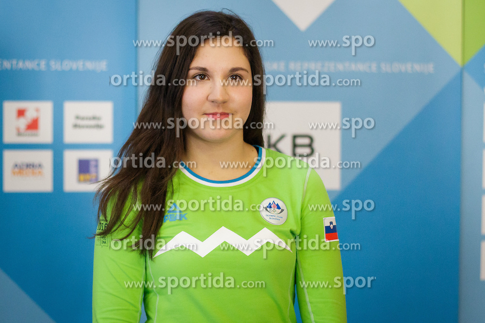 Eva Kralj during presentation of Team Slovenia at Lillehammer 2016 Winter Youth Olympic games, on February 4, 2016 on Bled, Slovenia. Photo by Ziga Zupan / Sportida