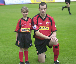MASCOT WITH WAYNE DIUK 24/8/02 Kettering Town v Woking Conference  Rockingham Road, 24th August  2002