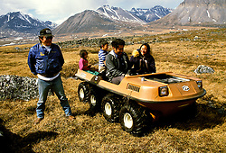 AK:  Alaska; Gates of the Arctic National Park, Anaktuvuk Pass, Eskimo Village      .Photos by Lee Foster, lee@fostertravel.com, www.fostertravel.com, (510) 549-2202.Image: akgate401