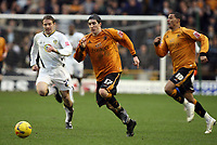 Photo: Rich Eaton.<br /> <br /> Wolverhampton Wanderers v Leeds United. Coca Cola Championship. 24/02/2007. Stephen Ward #17 leads the charge for Wolves