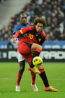 FOOTBALL - FRIENDLY GAME 2011 - FRANCE v BELGIUM - 15/11/2011 - PHOTO JEAN MARIE HERVIO / DPPI - AXEL WITSEL (BEL) / ERIC ABIDAL (FRA)