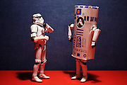 A friendship from a galaxy far, far away: Photographer shoots eclectic journey of two Stormtroopers every day for a year<br /> <br /> They might not have much appreciation in the Star Wars saga, but French artist Stéfan imagines that off-camera, the minions of Darth Vader have just as much fun as the next legion of loyal soldiers. He photographed two Stormtrooper toys – TK479 and TK455 – travelling the globe, playing Wheel of Fortune, and even dancing in the clubs.  The French photographer began the project April 3, 2013 and ended on April 4, 2014. The result is a delightful mix of cleverly-embedded Star Wars humour and not-so-subtle nods to pop culture.<br /> ©Stefan/Exclusivepix