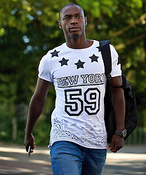 01.07.2015, Weserstadion, Bremen, GER, 1. FBL, SV Werder Bremen, Trainingsauftakt, im Bild Anthony Ujah (SV Werder Bremen #21) auf dem Weg vom Parkplatz zur Kabine // during a Trainingssession of German Bundesliga Club SV Werder Bremen at the Weserstadion in Bremen, Germany on 2015/07/01. EXPA Pictures © 2015, PhotoCredit: EXPA/ Andreas Gumz<br /> <br /> *****ATTENTION - OUT of GER*****