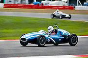 Car No 34 heads around Luffield. Silverstone CLassic - Pre '66 F1- 25/7/10.