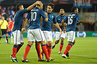 FOOTBALL - FRIENDLY GAME - FRANCE v CHILI - 10/08/2011 - PHOTO SYLVAIN THOMAS / DPPI - JOY FRENCH TEAM AFTER GOAL