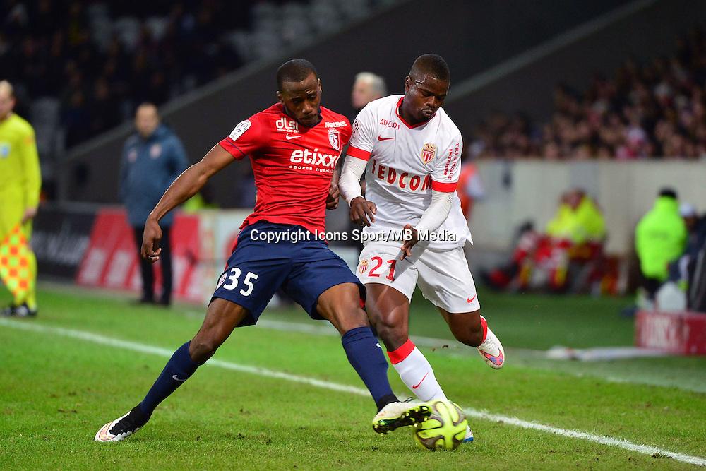 Kevin KOUBEMBA / Uwa Echiejile ELDERSON - 24.01.2015 - Lille / Monaco - 22eme journee de Ligue1<br />Photo : Dave Winter / Icon Sport