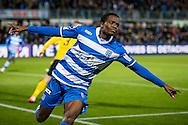 ZWOLLE, PEC Zwolle - Roda JC, voetbal, Eredivisie seizoen 2015-2016, 08-04-2016, IJsseldelta Stadion, PEC Zwolle speler Queensy Menig heeft de 1-1 gescoord.