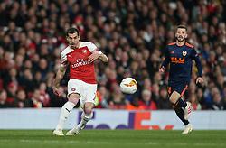 Henrikh Mkhitaryan of Arsenal passes the ball - Mandatory by-line: Arron Gent/JMP - 02/05/2019 - FOOTBALL - Emirates Stadium - London, England - Arsenal v Valencia - UEFA Europa League Semi-Final 1st Leg