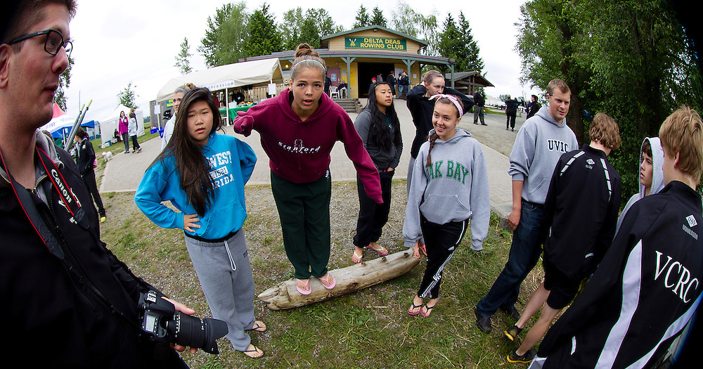 Athletes from rowing crews from around British Columbia Canada compete in the 2013 Delta Dess Rowing regatta.....