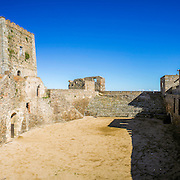 Alentejo Town of Monsaraz castle inner space (used as a traditional bullfighting arena). Located on the right margin of the Guadiana River in Portuguese Alentejo region, near Alqueiva damm and the border with Spain.