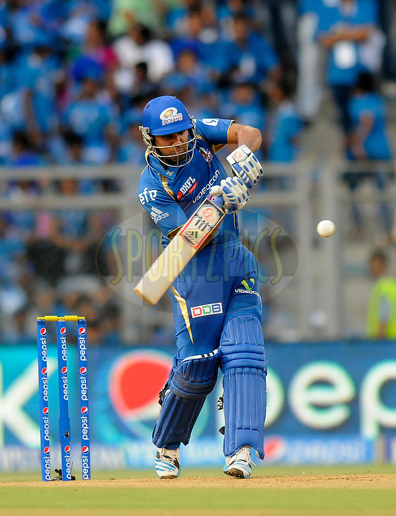 Rohit Sharma captain of of the Mumbai Indians bats during match 22 of the Pepsi Indian Premier League Season 2014 between the Mumbai Indians and the Kings XI Punjab held at the Wankhede Cricket Stadium, Mumbai, India on the 3rd May  2014<br /> <br /> Photo by Pal Pillai / IPL / SPORTZPICS<br /> <br /> <br /> <br /> Image use subject to terms and conditions which can be found here:  http://sportzpics.photoshelter.com/gallery/Pepsi-IPL-Image-terms-and-conditions/G00004VW1IVJ.gB0/C0000TScjhBM6ikg