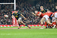 Rugby Union - 2018 Autumn Internationals (Under Armour Series) Wales vs. South Africa<br /> <br /> Gareth Davies;of Wales passes the ball out at The Millennium Stadium.<br /> <br /> COLORSPORT/WINSTON BYNORTH