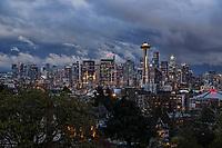 Seattle Skyline, Stormy Weather