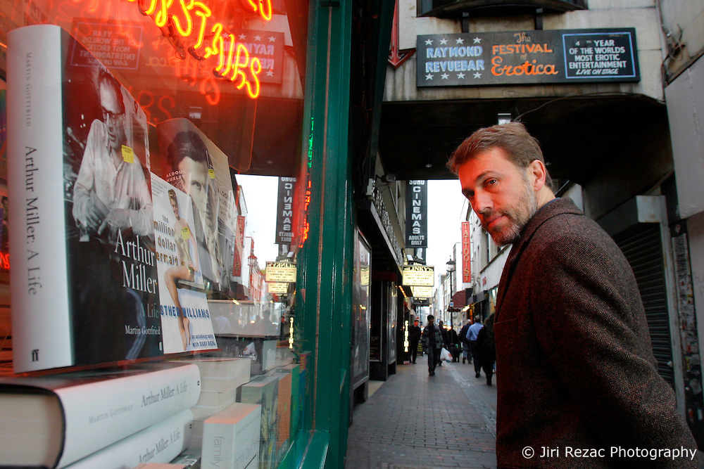 UK ENGLAND LONDON 21JAN04 - Austrian actor Christop Waltz poses for a portrait at one of his favourite haunts in London, Soho's red light district.....jre/Photo by Jiri Rezac....© Jiri Rezac 2003....Contact: +44 (0) 7050 110 417..Mobile:  +44 (0) 7801 337 683..Office:  +44 (0) 20 8968 9635....Email:   jiri@jirirezac.com..Web:    www.jirirezac.com..
