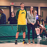 Kornel during the Women's Basketball Home Game on Sat Feb 02 at Centre for Kinesiology,Health and Sport. Credit: Arthur Ward/Arthur Images