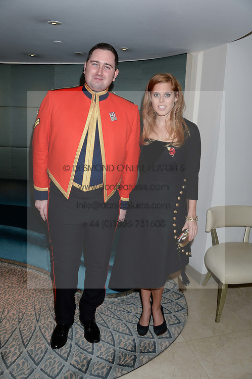 SCOTT BROWN and PRINCESS BEATRICE OF YORK at Fashion For The Brave at The Dorchester, Park Lane, London on 8th November 2013.