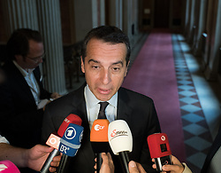 16.05.2017, Parlament, Wien, AUT, Parlament, Treffen zwischen Regierung und Oppositions zur Terminvereinbarung der Neuwahl am 15. Oktober 2017, im Bild Bundeskanzler Christian Kern (SPÖ) // Federal Chancellor of Austria Christian Kern during meeting of the National Council of austria with a speech of the federal chancellor regarding to government crisis and new elections at austrian parliament in Vienna, Austria on 2017/05/16, EXPA Pictures © 2017, PhotoCredit: EXPA/ Michael Gruber