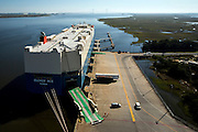 Roll on roll off  ships working at the Georgia Ports Authority Colonials Island facility, Monday,  Oct. 27, 2014, in Savannah, Ga., in Savannah, Ga.  (GPA Photo/Stephen B. Morton)