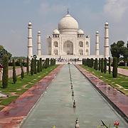 Taj Mahal Trip, India, Agra. Various locations around and in the Taj Mahal during September 2007 journey
