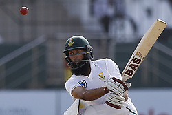 July 22, 2018 - Colombo, Sri Lanka - South African cricketer Hashim Amla plays a shot during the 3rd day's play in the 2nd test cricket match between Sri Lanka and South Africa at SSC International Cricket ground, Colombo, Sri Lanka on Sunday  22 July 2018  (Credit Image: © Tharaka Basnayaka/NurPhoto via ZUMA Press)