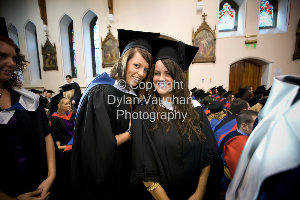 22/10/2008.free picture no charge for use.Pictured at the Conferring of Academic Awards 2008 at Waterford Institute of Technology was Maria Flynn from Waterford and Patrice Franey from Wicklowand  who were conferred with a Bachelor of Arts  in Legal Studies..Picture Dylan  Vaughan.