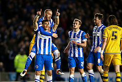 Goal, Tomer Hemed of Brighton & Hove Albion scores from the penalty spot, Brighton & Hove Albion 1-0 Fulham - Mandatory byline: Jason Brown/JMP - 07966 386802 - 15/04/2016 - FOOTBALL - American Express Community Stadium - Brighton,  England - Brighton & Hove Albion v Fulham - Championship