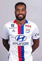 Alexandre Lacazette during the photocall of Lyon for new season of Ligue 1 on September 22nd 2016 in Lyon<br /> Photo : OL / Icon Sport
