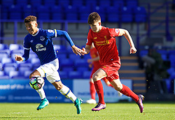 BIRKENHEAD, ENGLAND - Sunday, October 23, 2016: Liverpool's Ben Woodburn in action against Everton during the Mini-Derby FA Premier League 2 Under-23 match at Prenton Park. (Pic by David Rawcliffe/Propaganda)