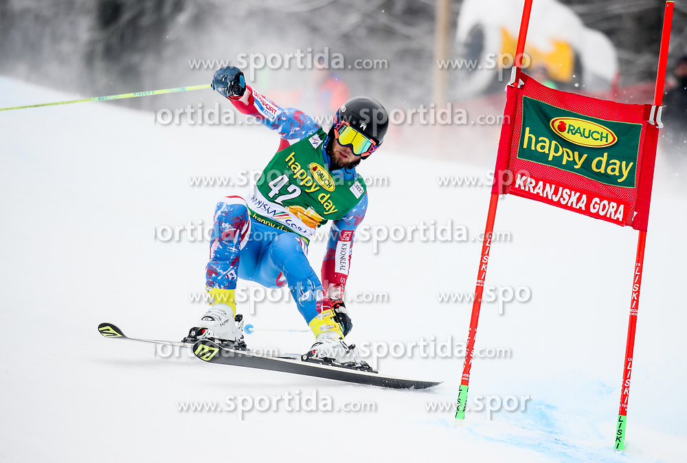 Andreas Zampa of Slovakia during 1st run of Men's GiantSlalom race of FIS Alpine Ski World Cup 57th Vitranc Cup 2018, on March 3, 2018 in Kranjska Gora, Slovenia. Photo by Ziga Zupan / Sportida