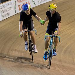 29-12-2015: Wielrennen: NK Baan: Alkmaar  ALKMAAR (NED) baanwielrennen  <br />Op de wielerbaan van Alkmaar streden de wielrenners om de nationale baantitels<br />Madison Jens Mouris en Dennis van Winden