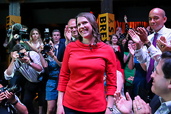 © Licensed to London News Pictures. 22/07/2019. London, UK. JO SWINSON is elected as the new leader of the Liberal Democrats. JO SWINSON, MP for East Dunbartonshire, won the leadership election receiving 47,997 votes. Photo credit: Dinendra Haria/LNP