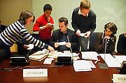 Nederland, Nijmegen, 14-2-2007 VMBO-scholieren spelen gemeenteraadsvergadering. Op deze manier wil de school de betrokkenheid van jongeren met de - lokale - politiek vergrotenFoto: Flip Franssen/Hollandse Hoogte