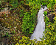 Potem Falls, along the Pit River arm of Shasta Lake, Shasta - Trinity National Forest, Shasta County, California