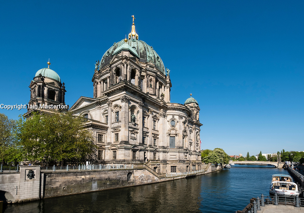 Exterior view of Berliner Dom  , Berlin Cathedral beside River Spree, in Mitte Berlin Germany