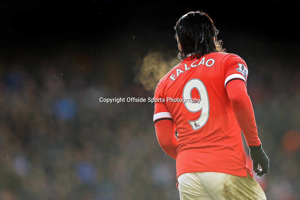 28 December 2014 - Barclays Premier League - Tottenham Hotspur v Manchester United - Radamel Falcao of Manchester United - Photo: Marc Atkins / Offside.