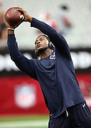 Houston Texans free safety Kendrick Lewis (21) catches a pre game pass before the 2014 NFL preseason football game against the Arizona Cardinals on Saturday, Aug. 9, 2014 in Glendale, Ariz. The Cardinals won the game in a 32-0 shutout. ©Paul Anthony Spinelli