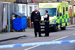 © Licensed to London News Pictures. 03/04/2019. London, UK. The scene where a man in his 40's has been found dead in Harrow, north London, following reports of an an attack with a machete. Photo credit: Stephen Chung/LNP