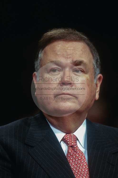 WASHINGTON, DC, USA - 1997/05/06: U.S. Senator David Boren during the Senate Intelligence Committee hearing on the nomination of George Tenet as CIA Director on Capitol Hill May 6, 1997 in Washington, DC.    (Photo by Richard Ellis)
