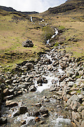 Small fell stream, Buttermere, Lake District national park, Cumbria, England, UK