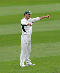 Worcestershire's Daryl Mitchell gives orders - Photo mandatory by-line: Harry Trump/JMP - Mobile: 07966 386802 - 21/08/15 - SPORT - CRICKET - LV County Championship Division One - Day One - Somerset v Worcestershire - The County Ground, Taunton, England.