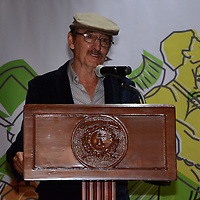 """Toluca, México.- Antonio Hernández Zimbrón, Actor, durante la inauguración del Teatro Isabelino, en el Centro Cultural Universitario """"Casa de las Diligencias"""". Agencia MVT / Arturo Hernández."""