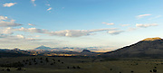 Panoramic photograph looking out over the Goshute mountains in Eastern Nevada toward Wells.