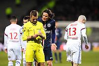 Clement TURPIN / Edinson CAVANI - 08.02.2015 - Lyon / Paris Saint Germain - 24eme journee de Ligue 1<br /> Photo : Jean Paul Thomas / Icon Sport