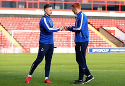 James Clarke of Bristol Rovers and Rory Gaffney of Bristol Rovers arrive at The Bank's Stadium to face Walsall - Mandatory by-line: Robbie Stephenson/JMP - 26/12/2017 - FOOTBALL - Banks's Stadium - Walsall, England - Walsall v Bristol Rovers - Sky Bet League One