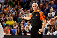 Referee Luigi Lamonica duringTurkish Airlines Euroleague match between Real Madrid and FC Barcelona Lassa at Wizink Center in Madrid, Spain. March 22, 2017. (ALTERPHOTOS/BorjaB.Hojas)
