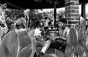 Teenager having violin lesson..(El Salvador).Music For Hope community music project,.Neuva Esperanza, Bajo Lempa, El Salvador.1999