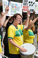 London: Rio violence protest, 6 August 2016