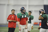 Ole Miss quarterback Bo Wallace at Ole Miss football practice at the IPF in Oxford, Miss. on Wednesday, April 3, 2013.